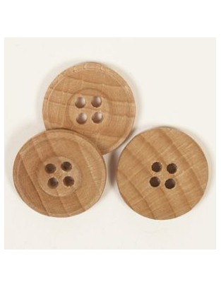 25mm Oak Wood Buttons