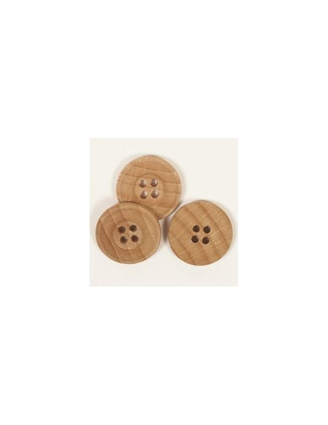 25mm Oak Wood Buttons