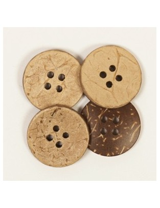 Drops Button Coconut shell 20mm