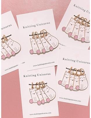 Knitting Unicorns Kitty stitch marker