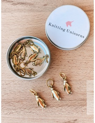 Knitting Unicorns Penguins stitch markers