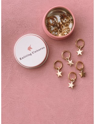 Knitting Unicorns golden stars