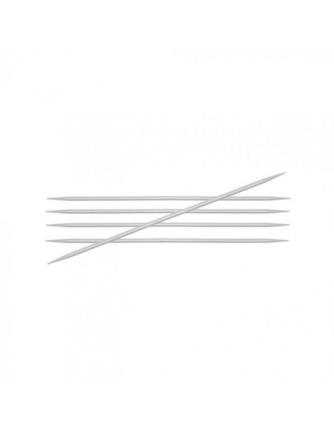 Knitpro Basix doble punta aluminio 20cm