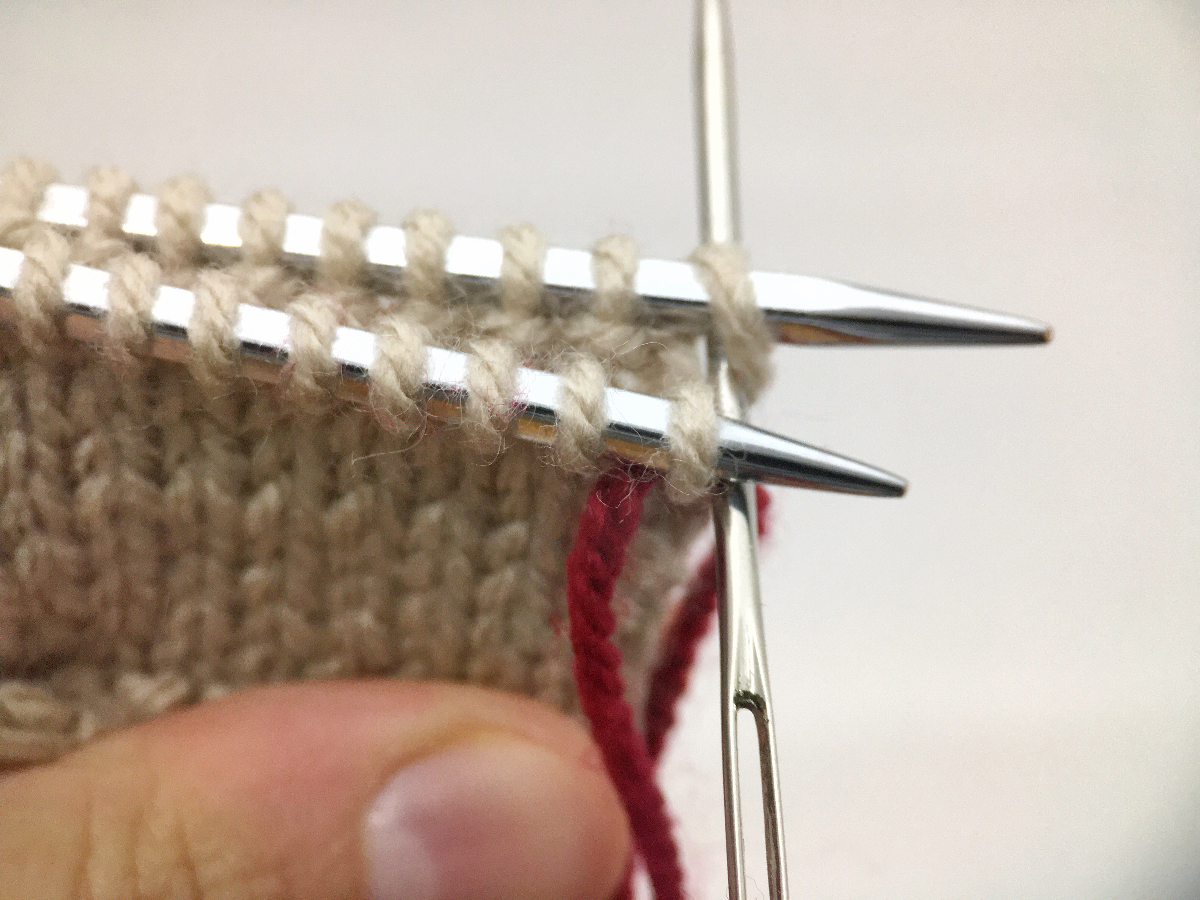 Kitchener stitch, paso a paso.
